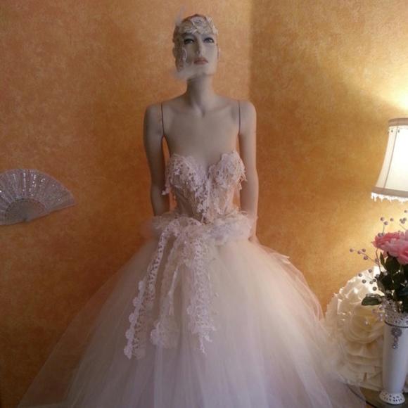 39544120b5 Champagne Ivory Lace Tulle Crystal Corset Ballgown. NWT. Sebrina Love / Sebrina  Love Bridals